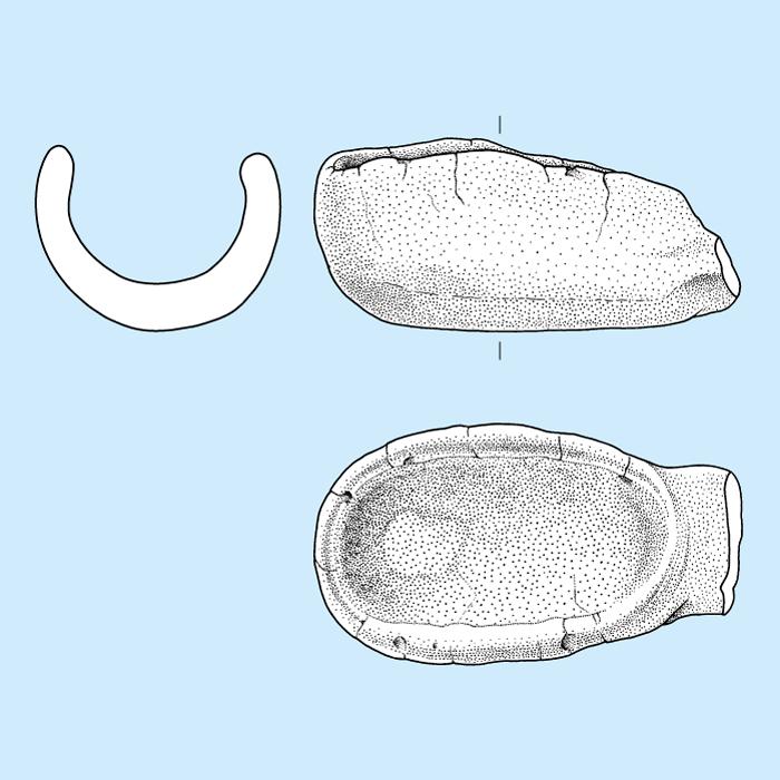 Neolithischer Gusstiegel